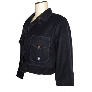 AG Adriano Goldschmied  Blue Military Wool Jacket